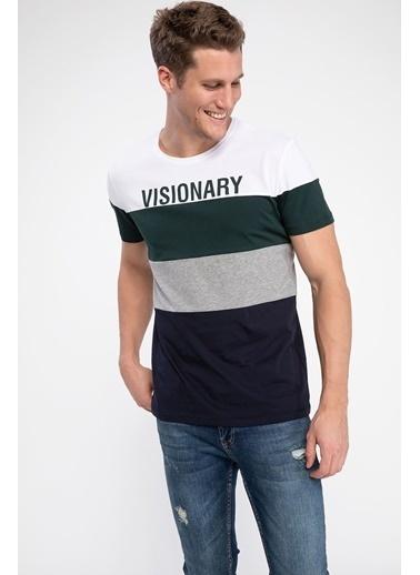DeFacto Baskılı T-shirt Lacivert